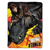 DreamWorks Dragon Flames Throw