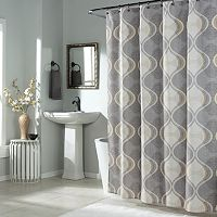 m.style Graphic Edge Shower Curtain