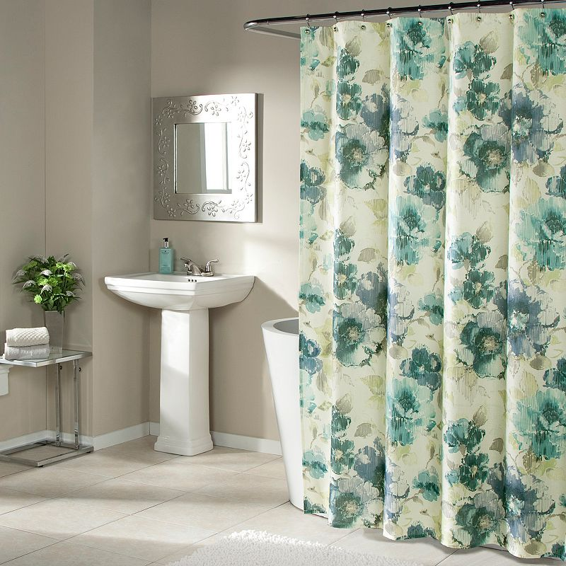 m.style Watermark Floral Shower Curtain