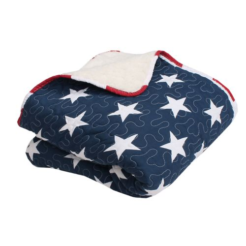 Thro American Flag Quilted Throw