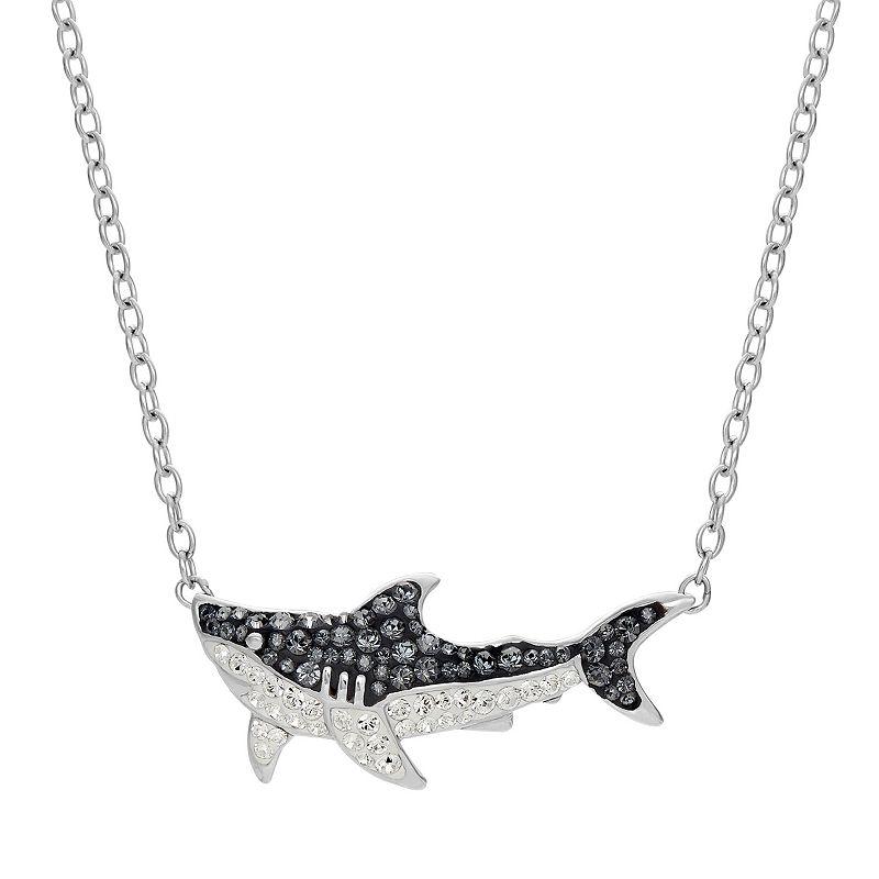 Shark Week Crystal Great White Shark Necklace