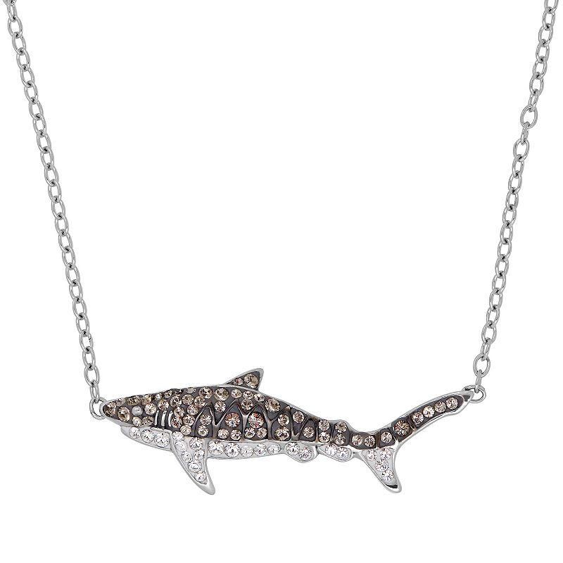 Shark Week Crystal Tiger Shark Necklace