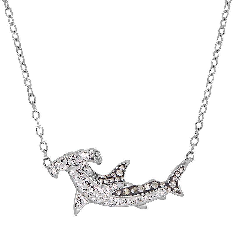 Shark Week Crystal Hammerhead Shark Necklace