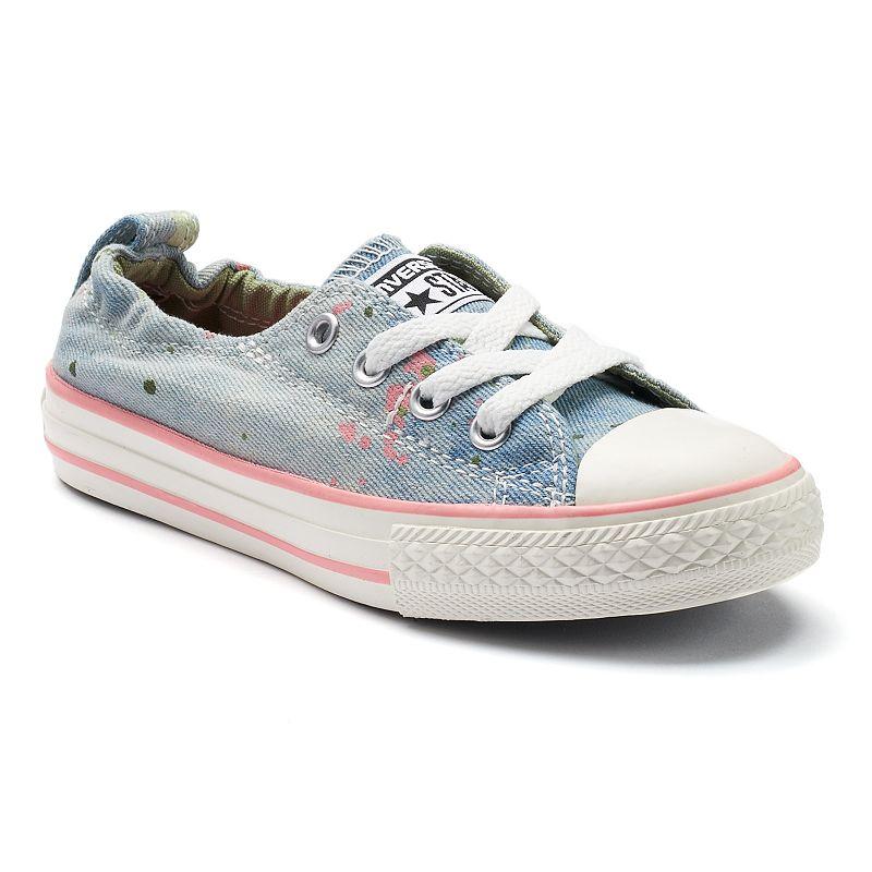 Girls' Converse Chuck Taylor All Star Shoreline Paint Splatter Slip On Shoes