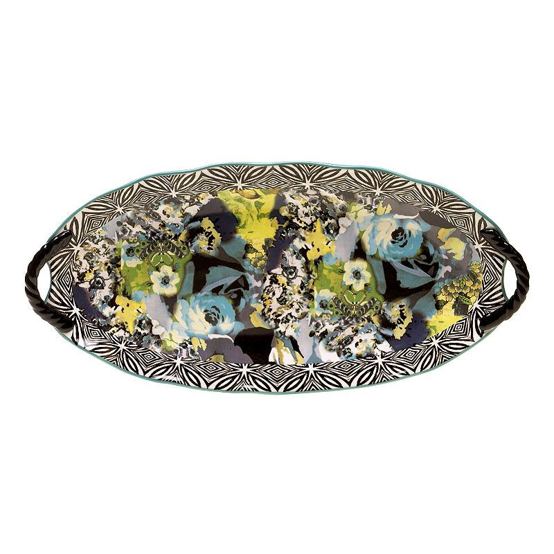 Tracy Porter Rose Boheme Oval Serving Platter with Handles