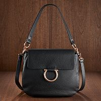 LC Lauren Conrad Runway Collection Leather Saddle Bag (Multi Colors) + $10 Kohls Cash
