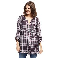Maternity Oh Baby by Motherhood™ Plaid Babydoll Top