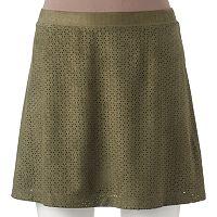 Juniors' Candie's® Laser-Cut Skirt