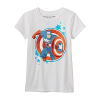 Girls 7-16 Marvel Captain America Graphic Tee