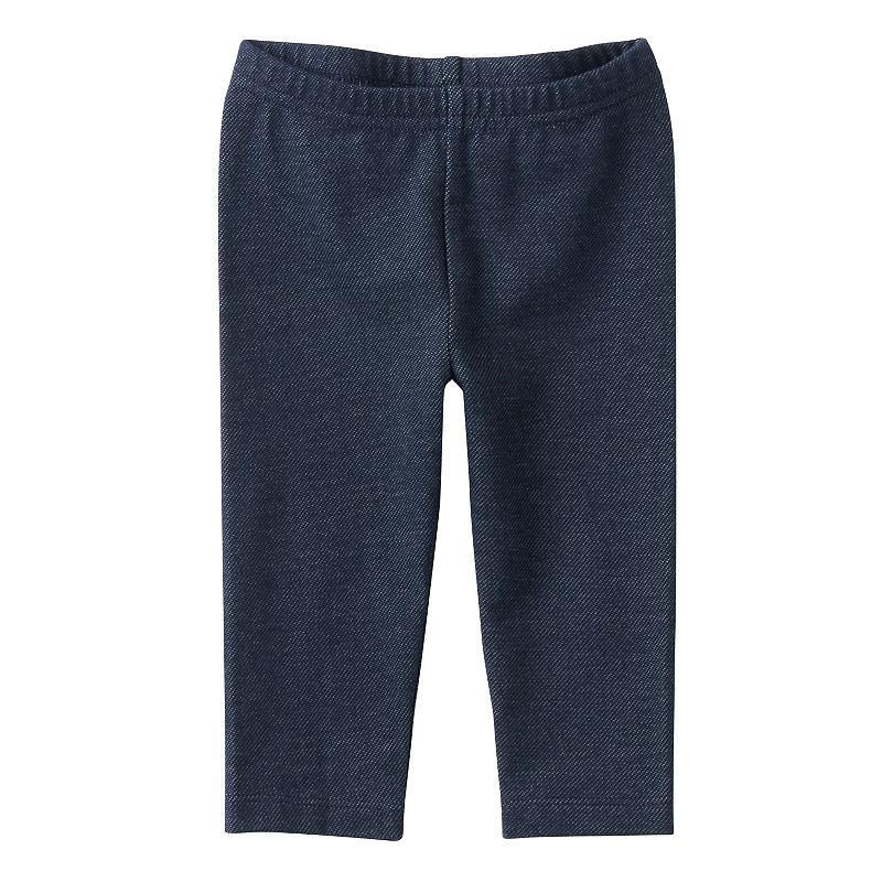Baby Girl Jumping Beans® Solid Denim-Like Leggings