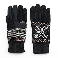 Women's Isotoner Snowflake Chenille Tech Gloves