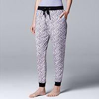 Women's Simply Vera Vera Wang Pajamas: Catch Me Cozy Velour PJ Pants