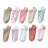 Women's SONOMA Goods for Life™ 10-pk. Floral No-Show Socks