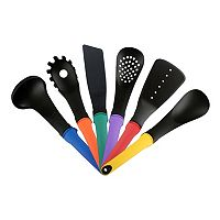 PureLife 6-pc. Multi-Colored Kitchen Utensil Set