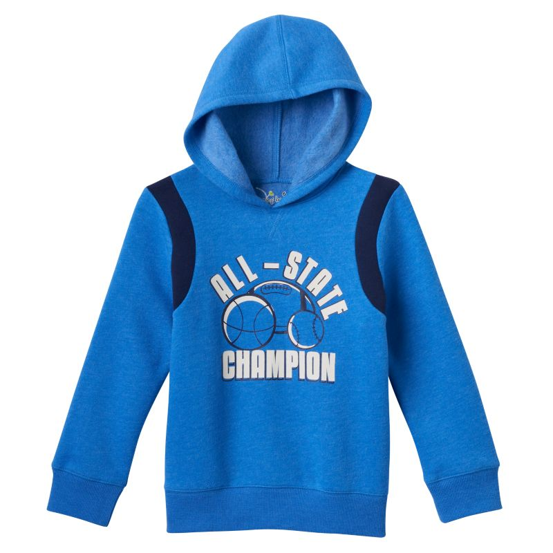 Boys 4-7x Jumping Beans Fleece-Lined Sports Hoodie, Boy's, Size: 7X, Blue (Navy)