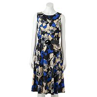 Women's Perceptions Floral Fit & Flare Dress