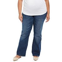 Plus Size Maternity Oh Baby by Motherhood™ Secret Fit Belly™ Faded Bootcut Jeans