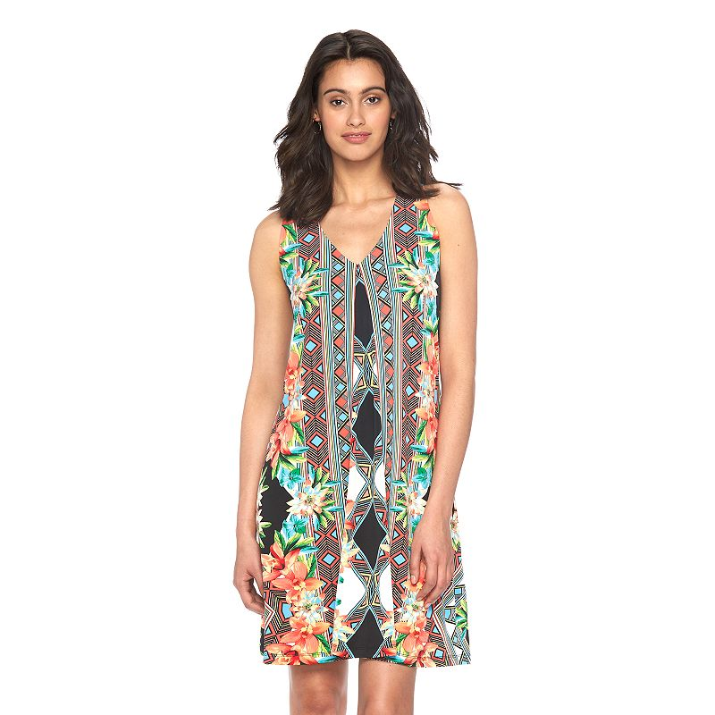 Women's Ronni Nicole Tropical Geometric Shift Dress