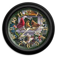 Reflective Art Springtime Melody Wall Clock