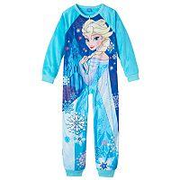 Disney's Frozen Elsa Girls 4-10 One-Piece Pajamas