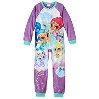 Girls 4-8 Shimmer & Shine One-Piece Pajamas
