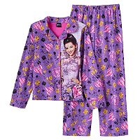 Disney's Descendants Mal Girls 4-12 Dot Button-Front Pajama Set