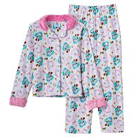 Girls 4-10 The Secret Life of Pets Gidget & Max Button-Front Pajama Set