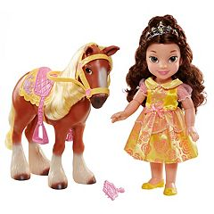 Disney's Beauty & The Beast Belle and Philippe Horse Set by
