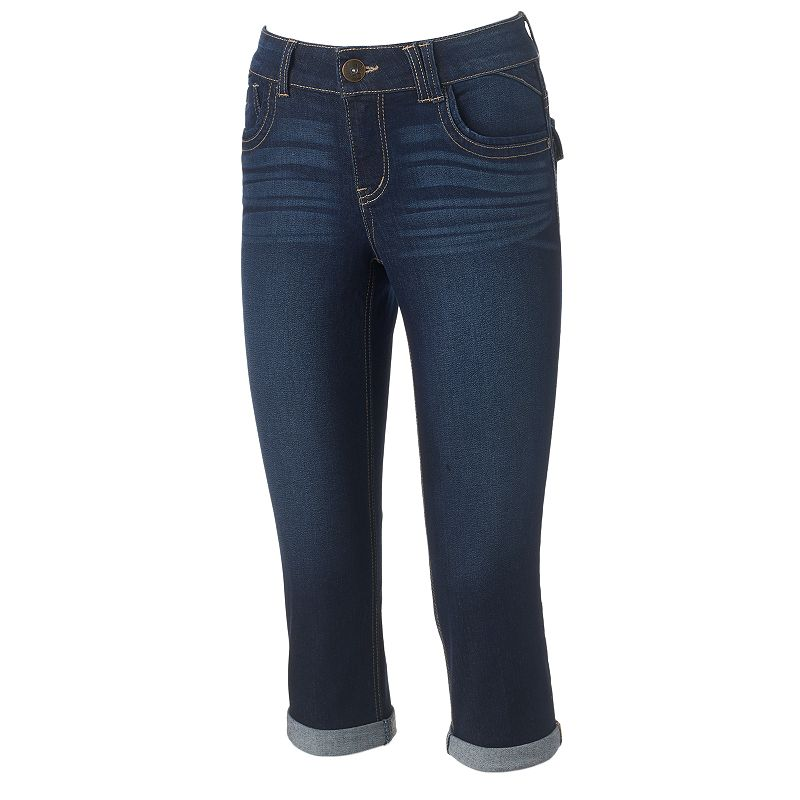 Women's Artisan Crafted by Democracy Embroidered Capri Jeans