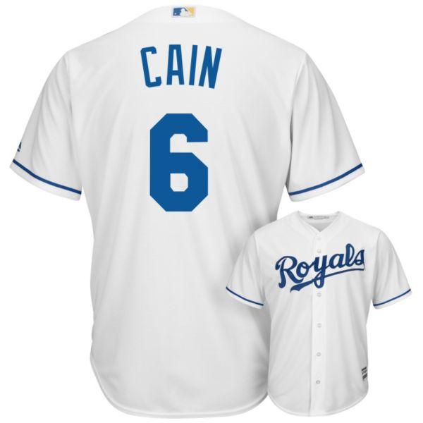 Men's Majestic Kansas City Royals Lorenzo Cain Replica MLB Jersey