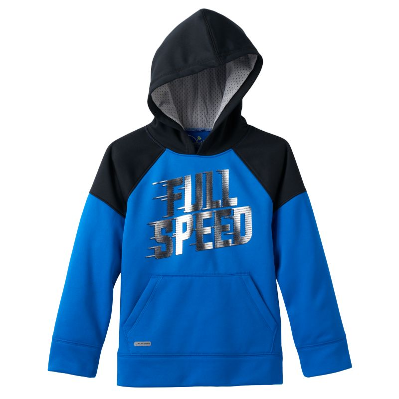 Boys 4-10 Jumping Beans Colorblocked Sports Graphic Fleece-Lined Performance Hoodie, Boy's, Size: 4, Blue (Navy)
