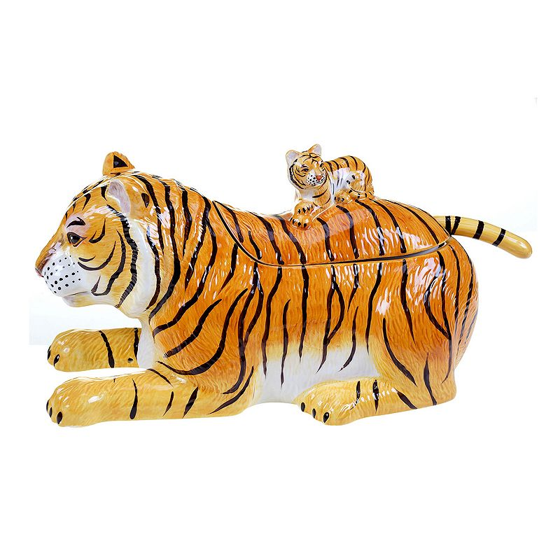 Tracy Porter Imperial Bengal 3D Tiger Soup Tureen with Ladle