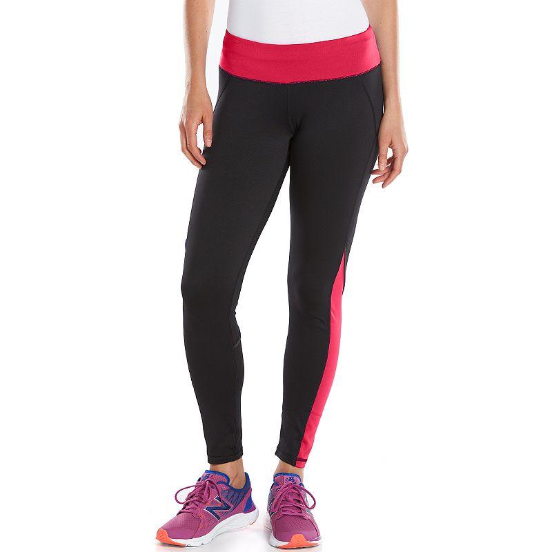 63149ab361089 Women's Tek Gear® Fleece-Lined Workout Leggings, Size: XS, Black ...