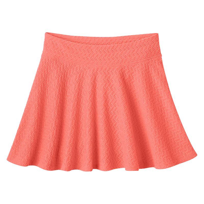 Girls 7-16 & Plus Size SO® Textured Skater Skirt