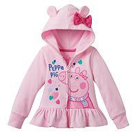 Toddler Girl Peppa Pig 3D Ear Zip-Up Hoodie
