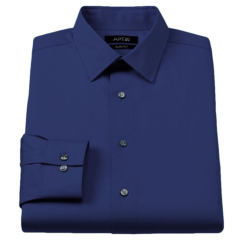 Men 39 S Apt 9 Slim Fit Stretch Spread Collar Dress Shirt