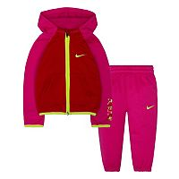 Baby Girl Nike Therma-FIT Fleece Hoodie & Pants Set