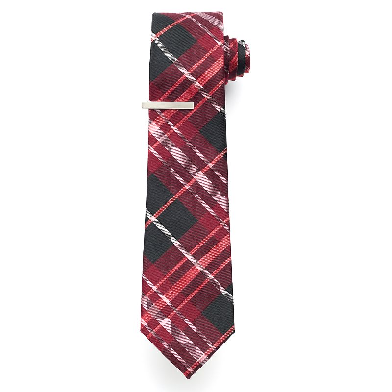 Apt. 9® Kanabec Plaid Skinny Tie & Tie Bar - Men