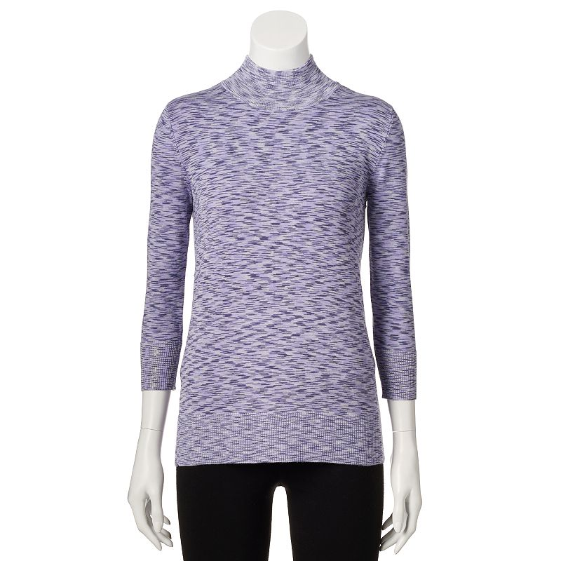 Women's Apt. 9 Space-Dyed Turtleneck Sweater