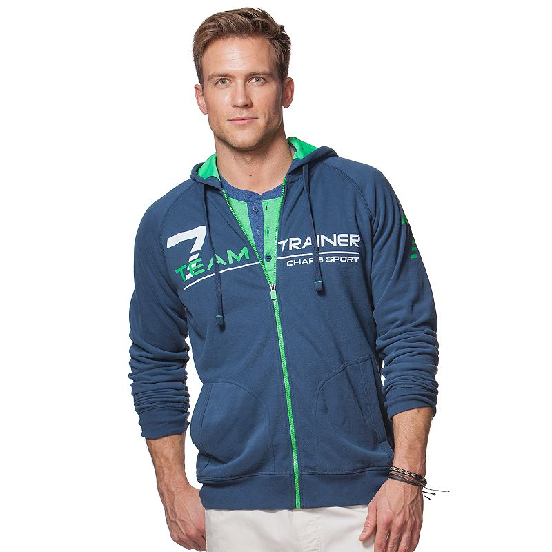 Men's Chaps Trainer Zip-Up Hoodie