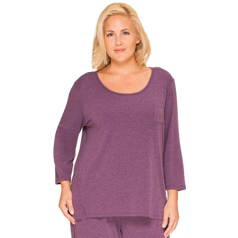 Plus Size Cuddl Duds Pajamas: Essentials Pajama Top