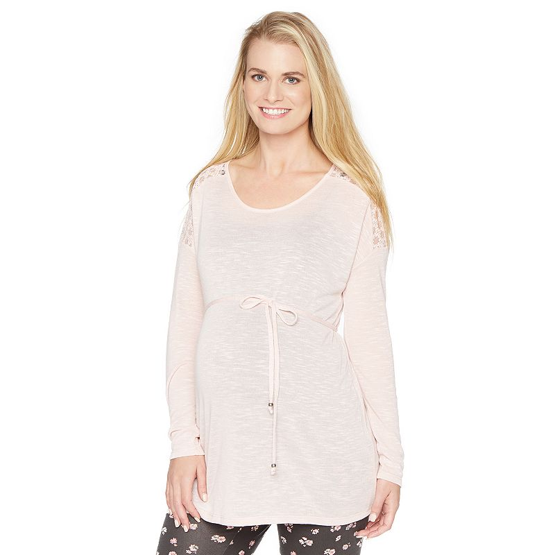Maternity Oh Baby by Motherhood™ Lace Dolman Sweater