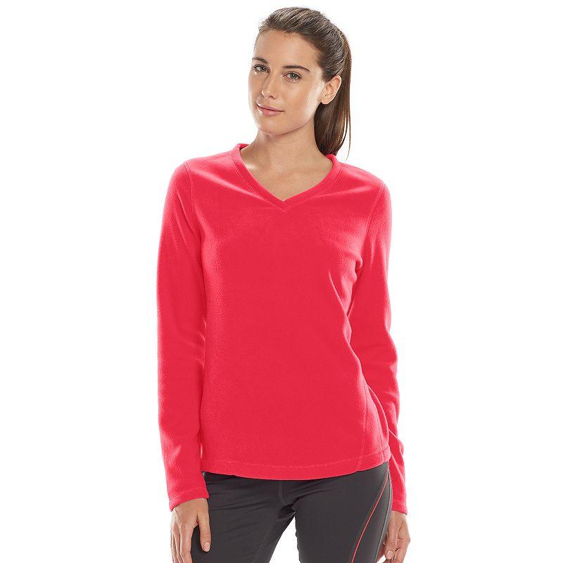 Women's Tek Gear® Microfleece V-Neck Sweatshirt