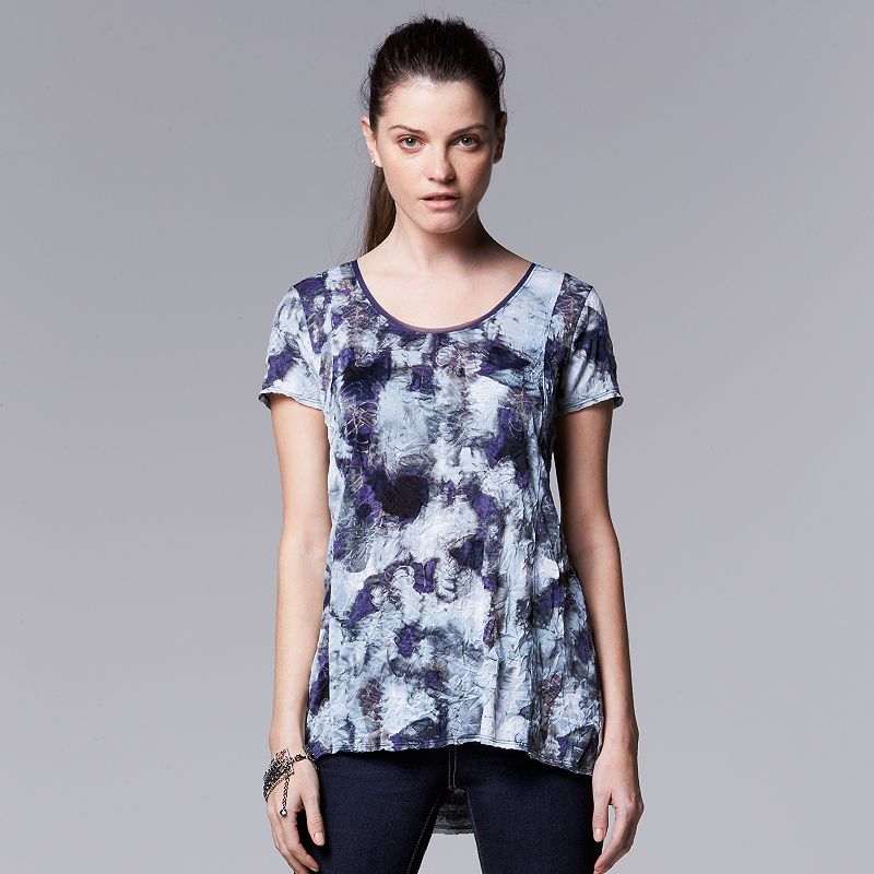 Women's Simply Vera Vera Wang Print Crinkle Tee