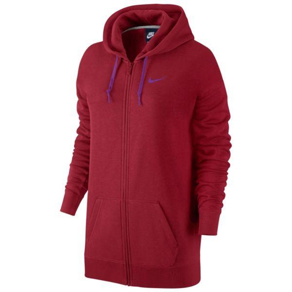 Women's Nike Club Boyfriend Fit Full-Zip Fleece Hoodie