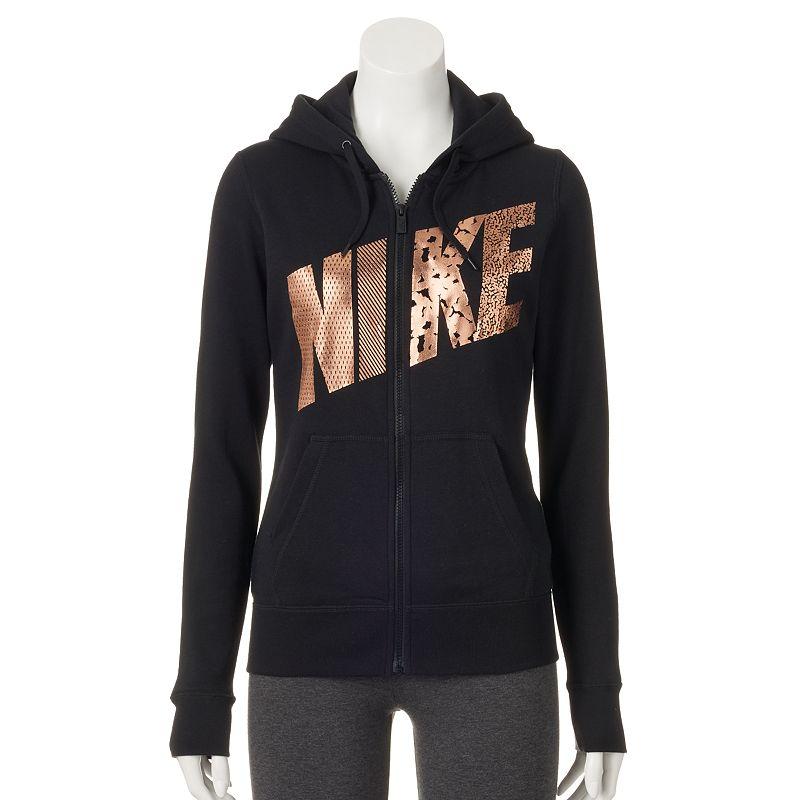 Women's Nike Club Graphic Full-Zip Fleece Hoodie