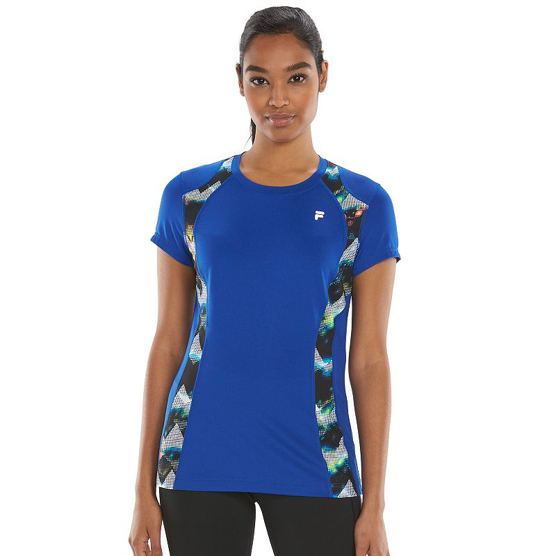 Women's FILA SPORT® Printed Inset Workout Tee