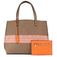 Yoki Reversible Canvas Tote & Coin Pouch