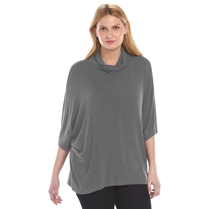 Plus Size Loramendi Oversize Mock Sweater