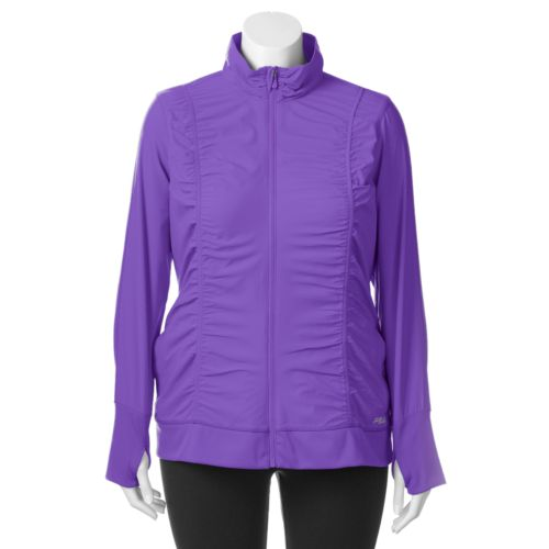 Plus Size FILA SPORT® Ruched Jacket